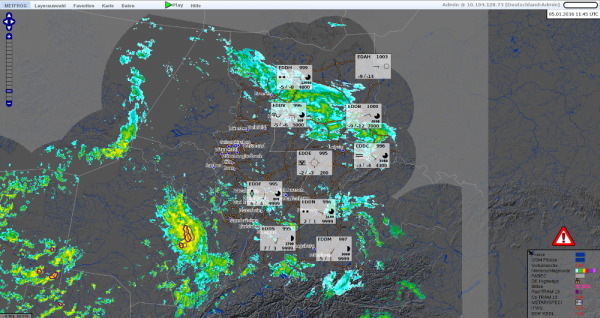 METFROG specified meteorological information