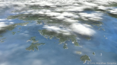 3D satellite weather visualization