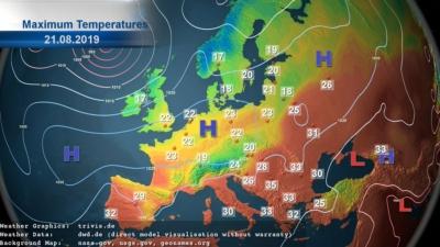 askMeteo temperature output