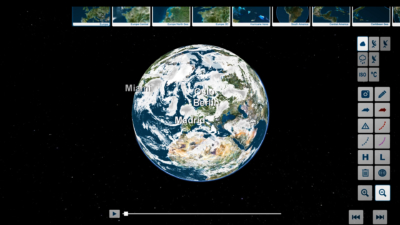 trivisTOUCH cloudy earth globe view