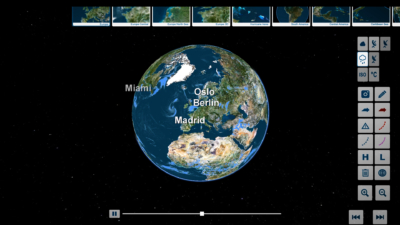 trivisTOUCH earth globe precipitation view