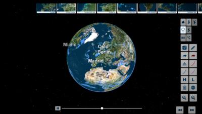 trivisTOUCH earth globe precipitation view