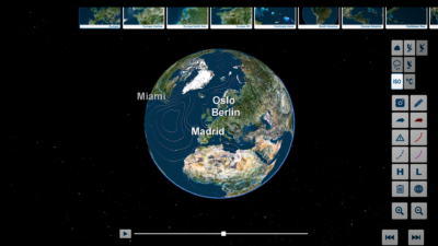 trivisTOUCH earth globe ISO visualization